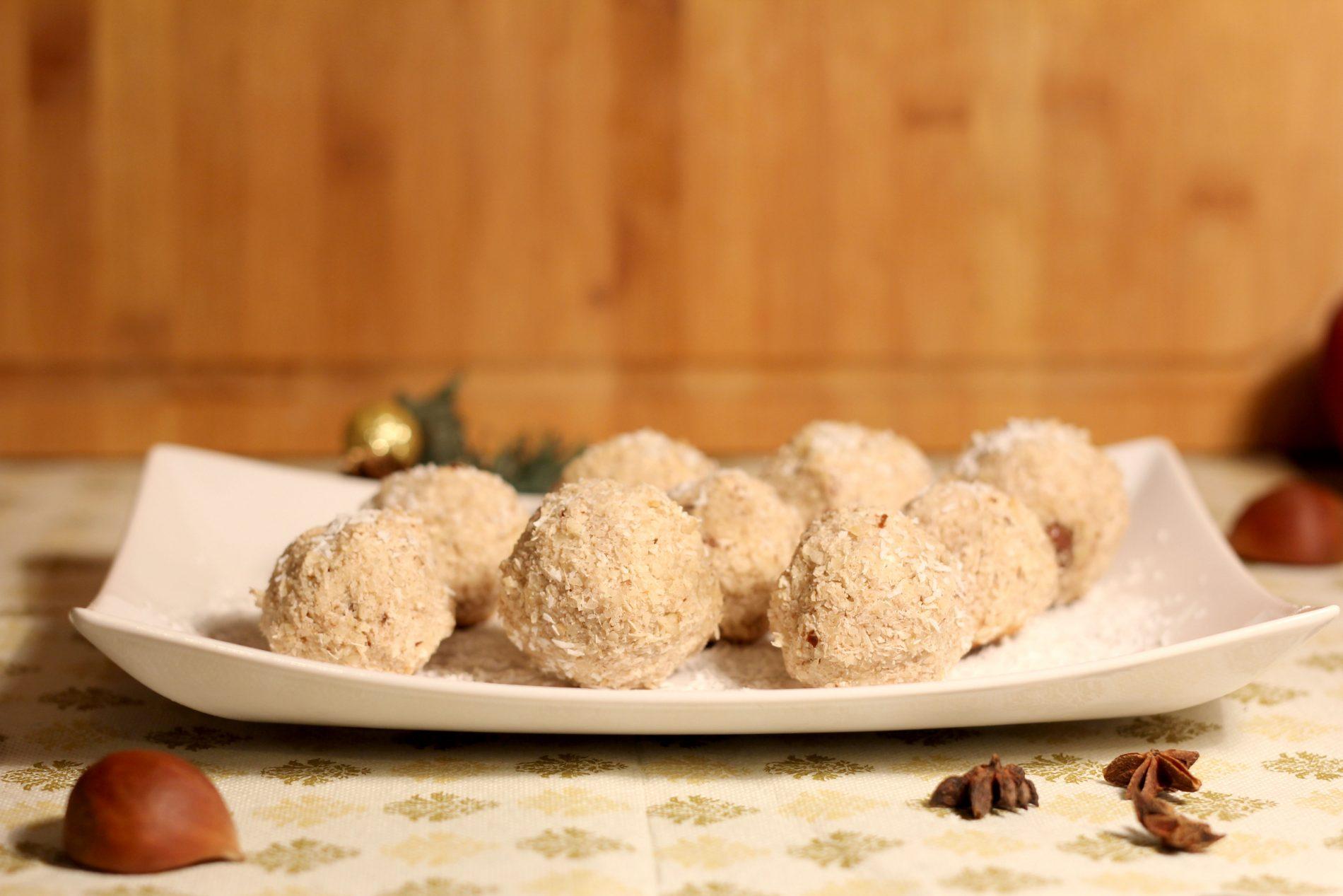 gaštanovo kokosové guľky