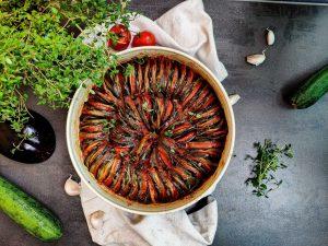 ratatouille z pečenej zeleniny