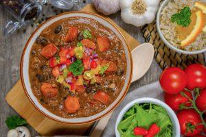 národné brazílske jedlo z fazule