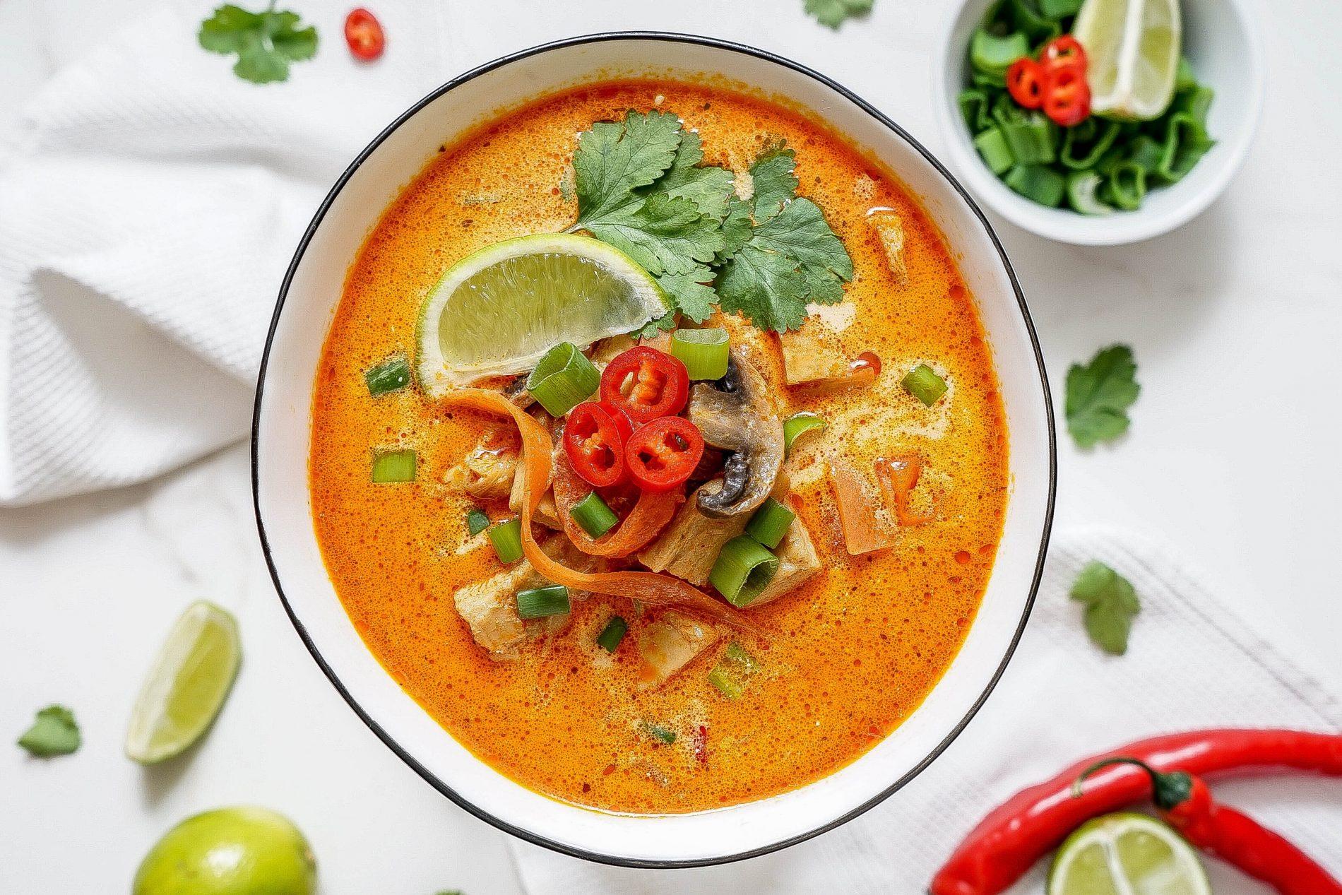 kokosová polievka tom kha