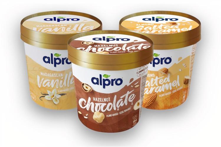 Zmrzlina Alpro s rastlinným zložením. Rôzne príchute.